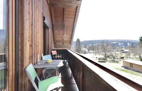 Balkon Topappartement Tom's Hütte